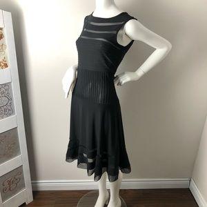 Joseph Ribkoff Cocktail Dress Black Sheer ruffled